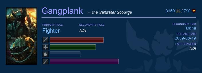 gangplank counters